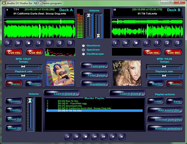 Audio DJ Studio for .NET Screen shot