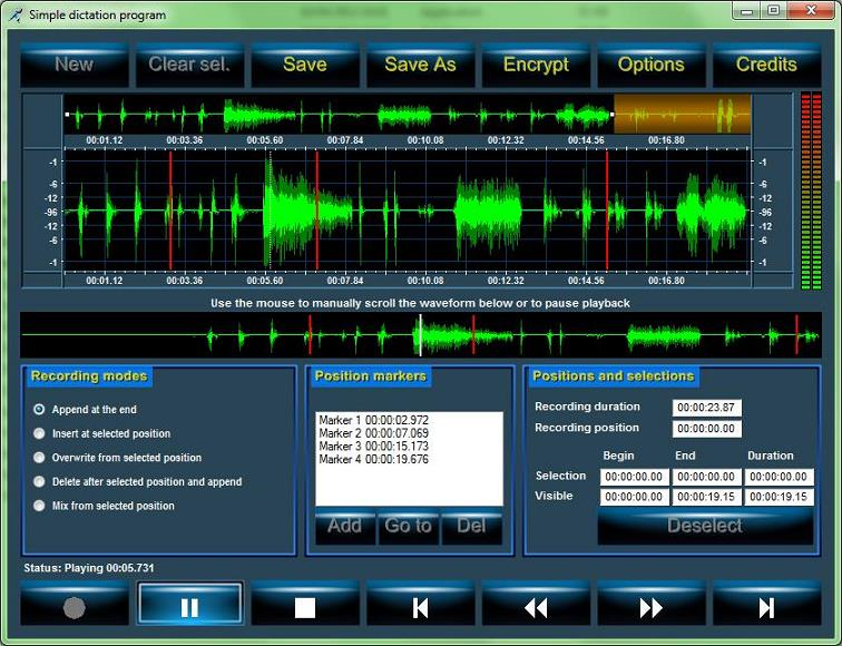 ActiveX control for sound recording, sound analysis and CD ripping
