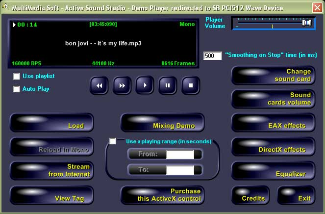 Suite of ActiveX controls for sound recording and editing.